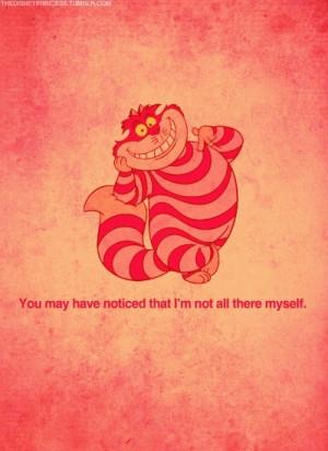 Walt Disney Cheshire cat quote