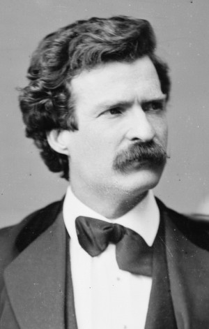 Mark Twain in 1871. Photo by Mathew Brady. Public domain.