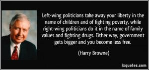 Left-wing politicians take away your liberty in the name of children ...
