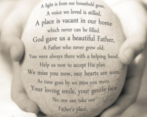 Father Remembrance Gift, Sympathy G ift, In Loving Memory Quote ...