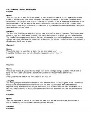 Good essay quotes for to kill a mockingbird