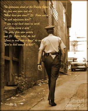 Police Poem Photograph