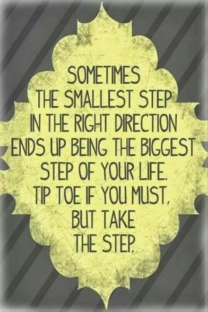 Taking that first step.