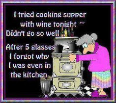 cooking with wine... More