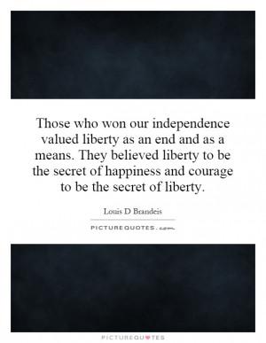 Louis D Brandeis Quotes