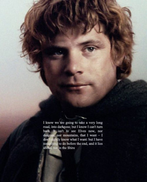 ... to know me ǁ 3/5 favorite male characters → samwise gamgee Quote