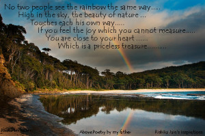 Beautiful Rainbow Quotes- Inspirational Quotes, Motivational Thoughts ...