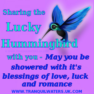 ... , the lucky wishing fairy, and the lucky & romantic hummingbird, too