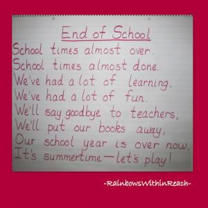that rhyme preschool end of year poem best teacher poems that rhyme ...