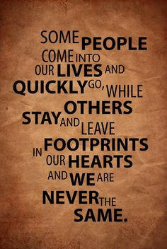 start leaving some footprints More