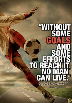 Without some goals and some efforts to reach it, no man can live.