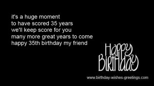 short quotes 35th birthday for her -