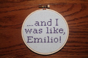 Night At The Roxbury Cross Stitch: Will Ferrell Quote