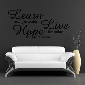 tweet learn live hope wall quote wall stickers from abode wall art
