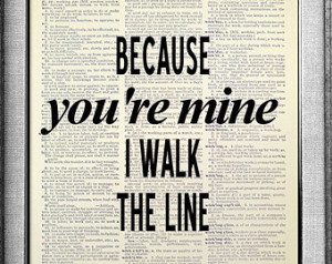 Johnny Cash Wall Art QUOTE POSTER, Rustic Country Decor, Song Lyric ...