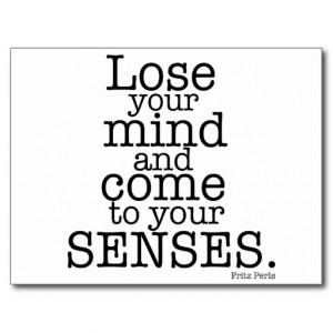 Lose your mind... postcard