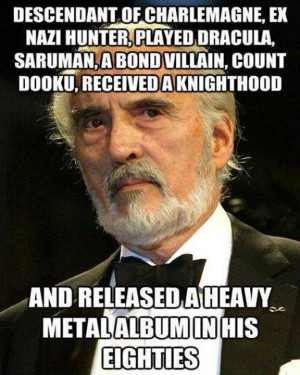 Christopher Lee 'Baddest Man In The World'