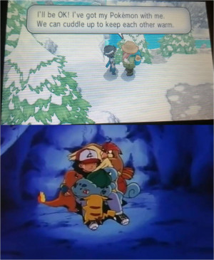 ... His Best Pokemon Huddle For Warmth In The Freezing Weather On Pokemon