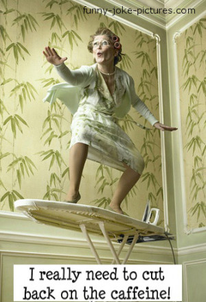 Funny Caffeine Granny Ironing Board Surfer Picture Meme Photo