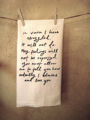 Jane Austen hand towel...