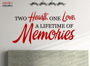 Two Hearts In Love Quotes On sale: two hearts one love