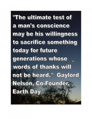Meaningful Happy Earth Day Quotes By Gaylord Nelson