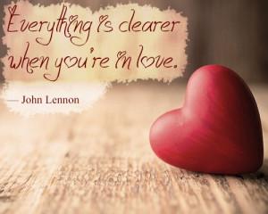 John Lennon Love Quote Wall...