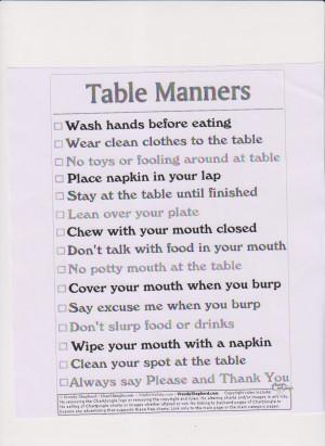 Good Table Manners Chart http://2011ebisks1.pbworks.com/