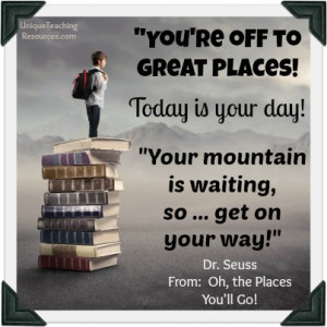 ... 're Off To Great Places Dr. Seuss Quote From Oh The Places You'll Go
