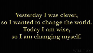 The change starts with you.