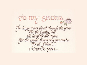 An ode to sister
