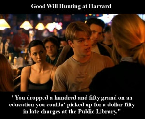 Graphic Quotes: Good Will Hunting at Harvard