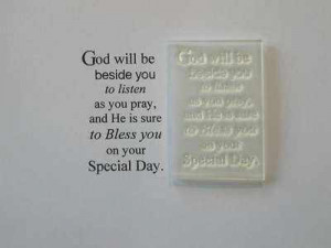 Holy Communion verse stamp, small