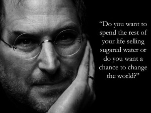 ... quotes from Steve Jobs and his 2005 Stanford Commencement Speech