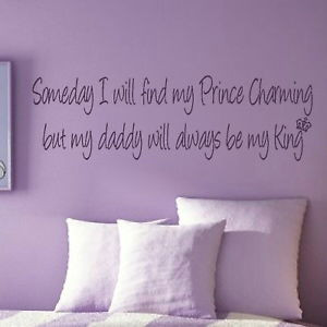 Dettagli su Find Prince Charming - Kids Quote / Large Childrens Quote ...