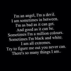 Angel, I'm A Devil - Angels Quote