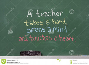 ... Free Stock Photography: Inspirational phrase for teacher appreciation