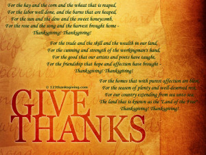 Giving Thanks : Thanksgiving Poems