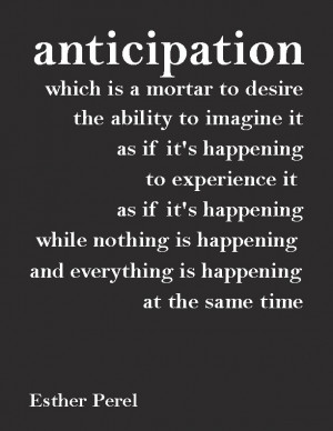 ... and everything is happening at the same time
