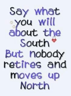 love it!!! i'm a southern girl! I'd love to live even farther south!