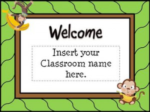 Back To School Open House Powerpoint Template/ Monkey Theme or Jungle