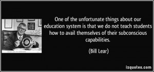 More Bill Lear Quotes
