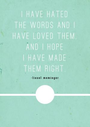 The Book Thief (Markus Zusak) Oh, my, this book broke my heart! I ...