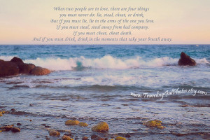 Wedding registry Irish wedding blessing inspirational quote beach ...