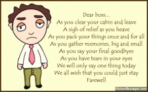 Farewell Poems for Boss: Goodbye Poems