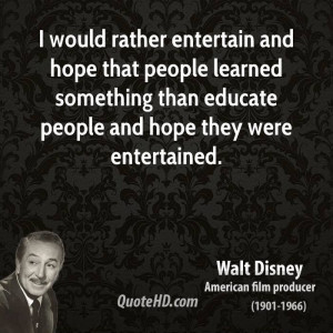 Walt Disney Education Quotes | QuoteHD