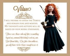 Young Women's Values with Disney Princesses: Virtue More