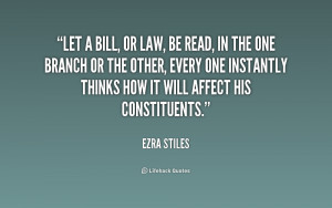 Let a bill, or law, be read, in the one branch or the other, every one ...