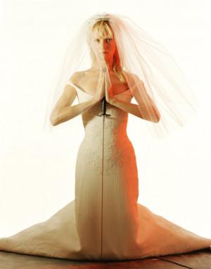 Uma Thurman Wedding Dress With Sword Hand