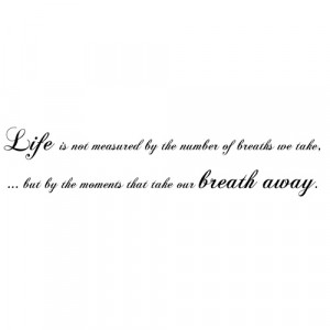 Breath Away Wall Sticker Quote